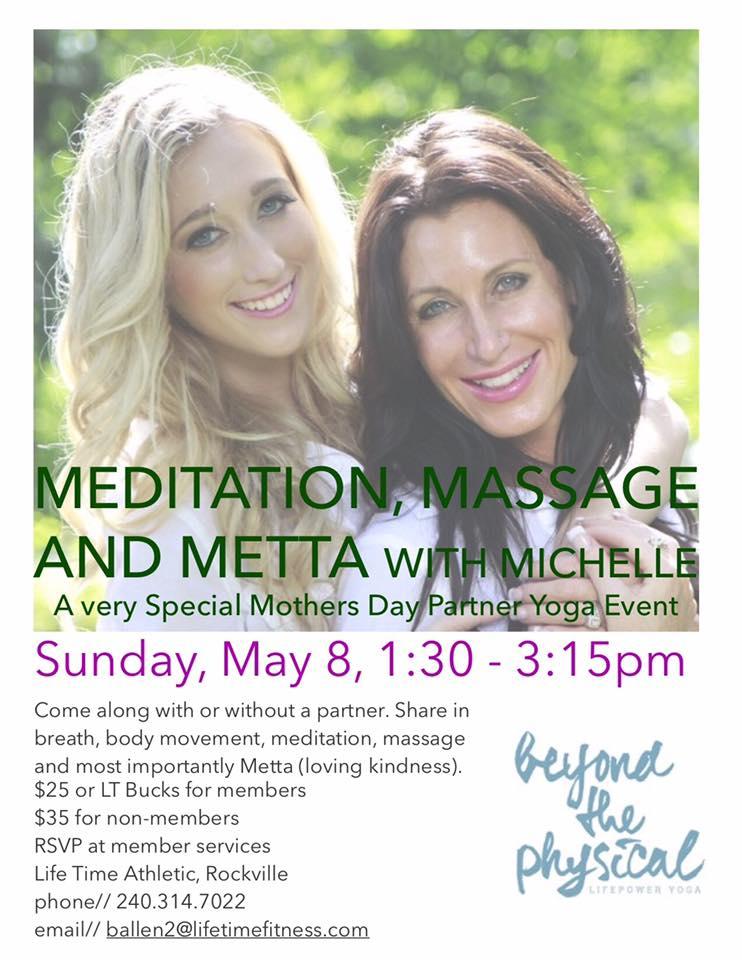 Meditation, Massage and Metta - Flyer