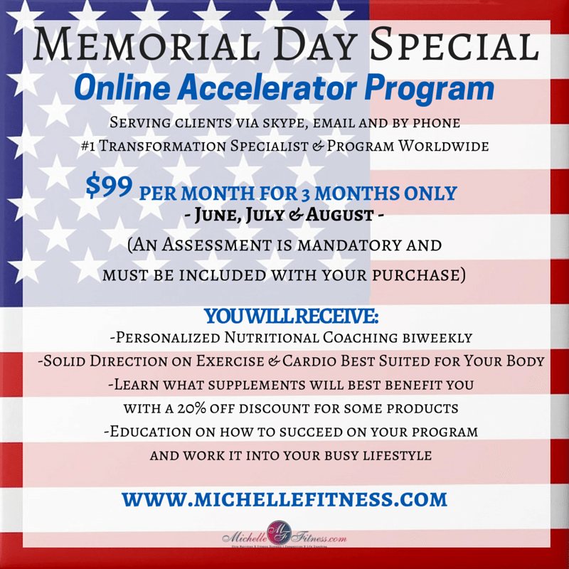 Flyer for Memorial Day Special